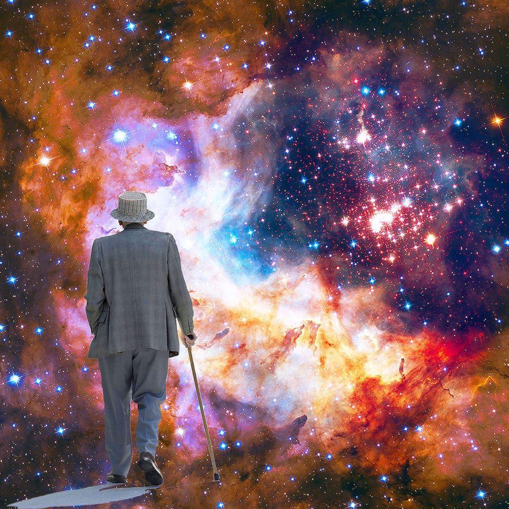Striding Towards Celestial Fireworks by Roslyn Rose