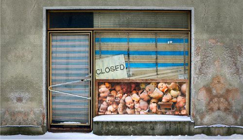"""Closed"" photographic montage by artist Roslyn Rose"
